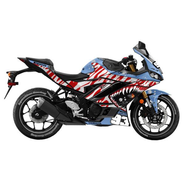Motorcycle Decals Stickers Kit Yamaha Kawasaki Honda Harley Davidson Chrome look